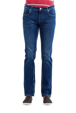 Lawman Dark Blue Lightly Washed Mid Rise Slim Fit Jeans