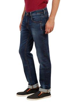 Lawman Dark Blue Solid Mid Rise Jeans
