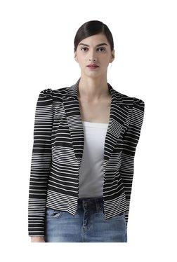 109 F Black Striped Blazer