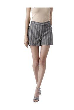 109 F Black & White Striped Shorts