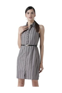 109 F Black & White Striped Dress