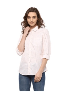 Solly By Allen Solly Beige Printed Shirt