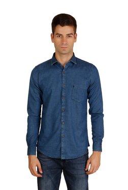 Easies by Killer Dark Blue Full Sleeves Slim Fit Shirt 27bac6101