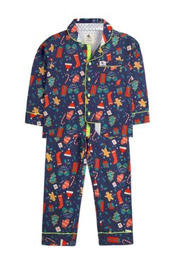 f6fc596631 Cherry Crumble California Kids Navy Printed Shirt With Pyjama