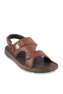 Metro Dark Tan Back Strap Sandals