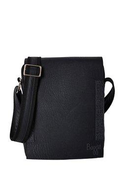 70cd898f35 Baggit Trippy Tingtong Black Solid Fold Over Sling Bag