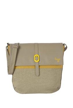 Baggit Eddy1 Excel Khaki & Ochre Yellow Flap Sling Bag