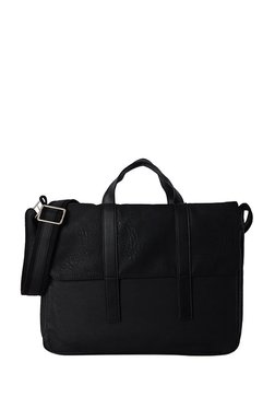Baggit Storm Tingtong Black Textured Messenger Bag db396d7663a27