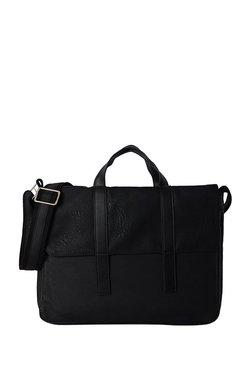 4960aa7f90 Baggit Storm Tingtong Black Textured Messenger Bag