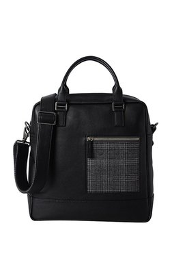 e6d5e8468164 Baggit Xender Times Black Checkered Pattern Sling Bag