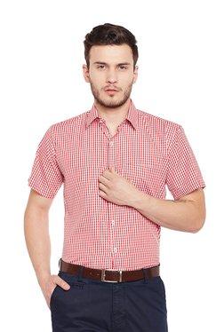 Hancock Red Checks Half Sleeves Shirt