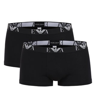Emporio Armani Black Trunks (Pack Of 2)