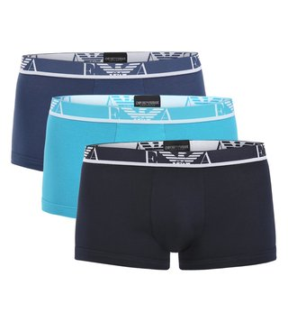 Emporio Armani Marine, Avio & Turchese Trunks (Pack Of 3)