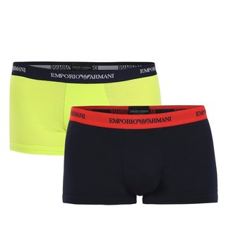 Emporio Armani Marine & Lime Trunks (Pack Of 2)