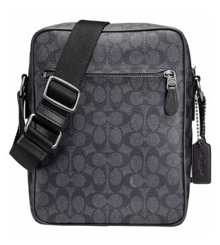 Coach Charcoal Metropolitan Flight Crossbody Bag