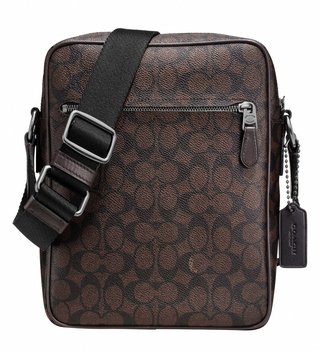 Coach Brown Metropolitan Flight Crossbody Bag