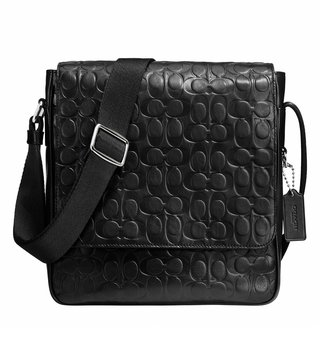 Coach Black Metropolitan Map Crossbody Bag