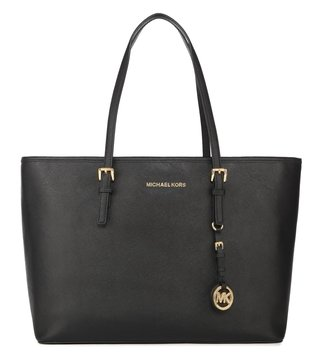 Michael Kors Jet Set Travel Black Medium Tote Bag