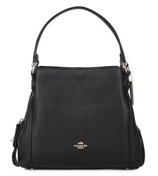 Coach Black Edie 31 Shoulder Bag
