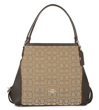 Coach Brown Jacquard Edie 31 Shoulder Bag