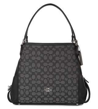 Coach Black Jacquard Edie 31 Shoulder Bag