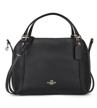 Coach Black Edie 28 Shoulder Bag