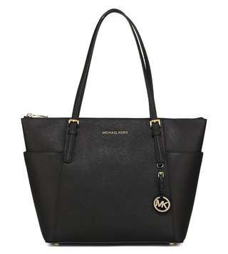 Michael Michael Kors Jet Set Item Black Large Tote