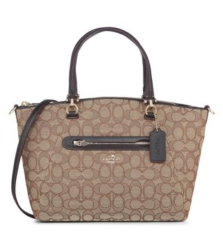 Coach Signature Brown Prairie Satchel