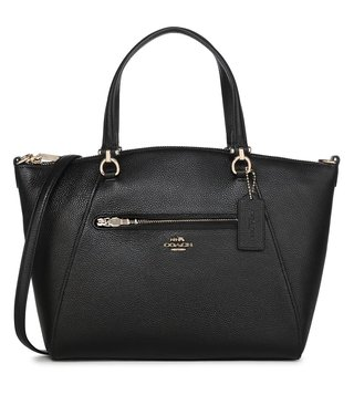 Coach Black Prairie Satchel Bag