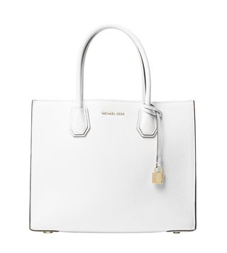 Michael Michael Kors Mercer Optic White Tote Bag