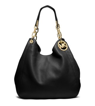 Michael Michael Kors Fulton Black Shoulder Bag