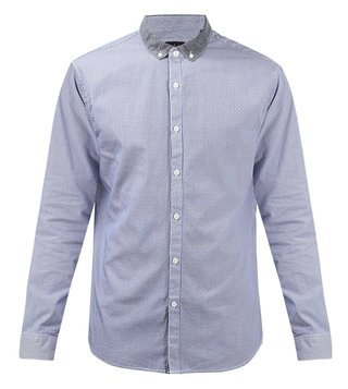 Armani Exchange Blue Striped Shirt