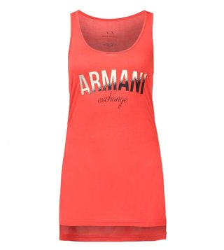 Armani Exchange Coral Ombre Foil Tank Top