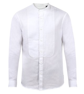 Armani Exchange White Solid Shirt