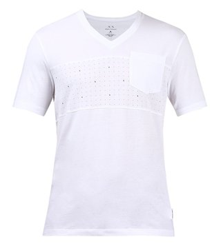 Armani Exchange White Printed T-Shirt