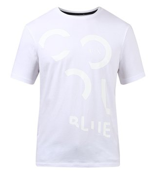 Armani Exchange White Graphic Print T-Shirt
