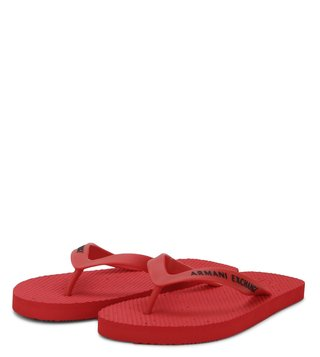 Armani Exchange Dot Printed Red Flip Flops