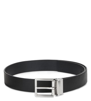 Armani Exchange Black & Navy Reversible Leather Belt