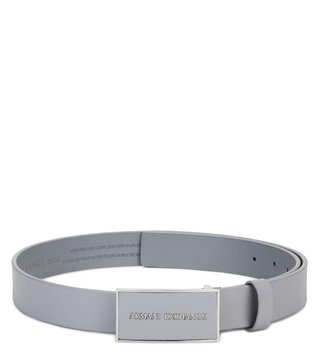 Armani Exchange Alloy Saffiano Leather Buckle Belt