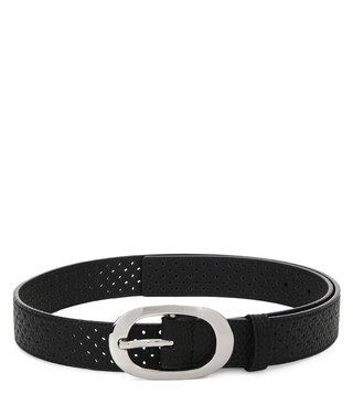 Armani Exchange Nero Perforated Belt