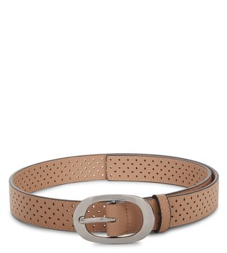 Armani Exchange Nude Perforated Belt