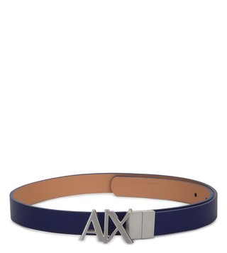 Armani Exchange Blue Royal & Nude Reversible Hinge Belt