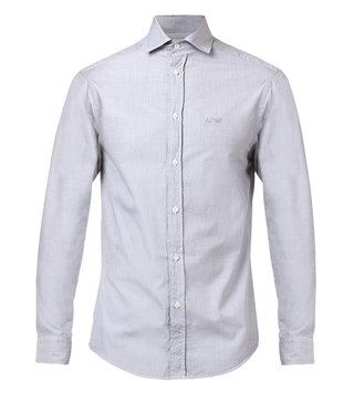 Armani Jeans Grigio Tailored Fit Cotton Shirt
