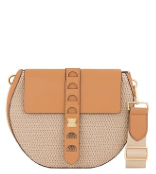 Coccinelle Carousel Tex Naturale Crossbody Bag