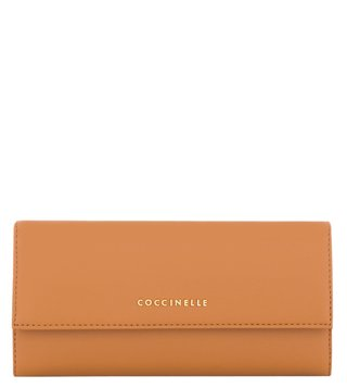 Coccinelle Metallic Smooth Cuoio Leather Wallet