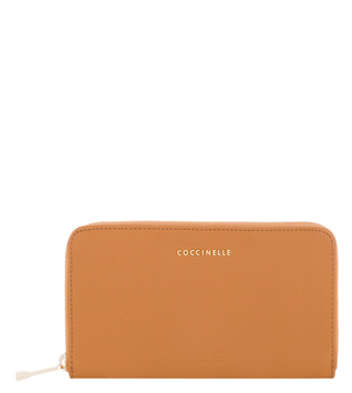 Coccinelle Metallic Soft Cuoio Leather Wallet