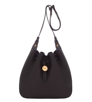 Coccinelle Clessidra Nero Leather Bucket Bag