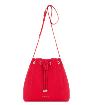 Coccinelle Ariel Rosso 215 Leather Bucket Bag