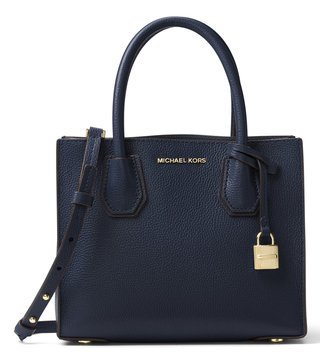 Michael Michael Kors Mercer Admiral Leather Crossbody Bag