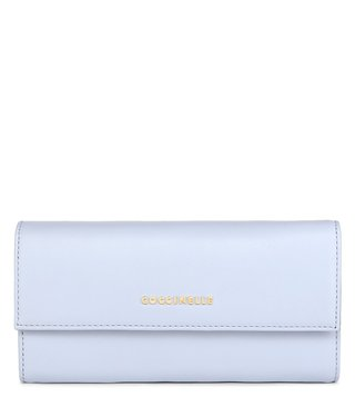 Coccinelle Metallic Smooth Iris Leather Wallet